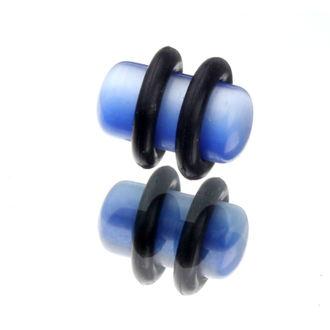 piercingový šperk tunel PLY 6mm - světle modrý - IV066