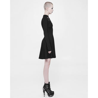 šaty dámské PUNK RAVE - Shiva - black Gothic, PUNK RAVE