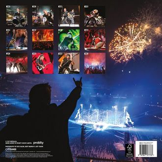 kalendář na rok 2018 METALLICA, Metallica