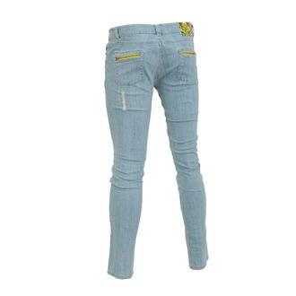 kalhoty dámské (jeansy) IRON FIST - Eyeballs Skinny Denims - BLEACH WASH DENIM, IRON FIST