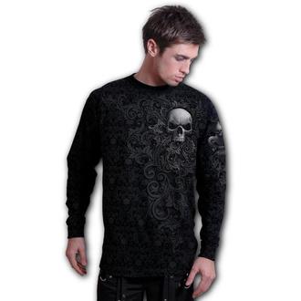 tričko pánské s dlouhým rukávem SPIRAL - SKULL SCROLL, SPIRAL
