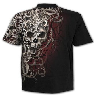 tričko pánské SPIRAL - SKULL SHOULDER WRAP - Black, SPIRAL