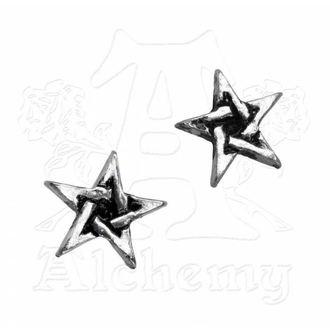 náušnice Pentagram Studs E164 - Alchemy Gothic - E164