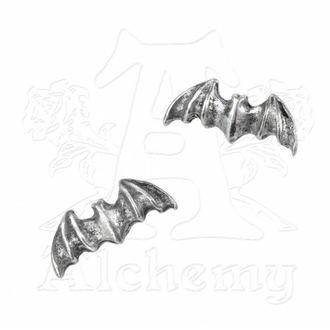 náušnice Bat studs - Alchemy Gothic - E186