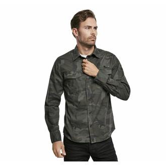 košile pánská BRANDIT - Men Shirt Slim - Woodland - 4005/10