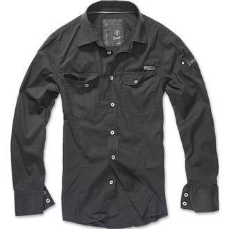 košile pánská Brandit - Men Shirt Slim - Black, BRANDIT