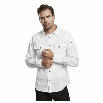 košile pánská BRANDIT - Men Shirt Slim Weiss - 4005/7