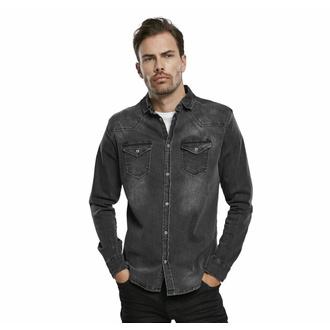 košile pánská BRANDIT - Riley - Denims - 4020-schwarz