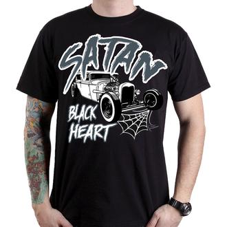 tričko pánské BLACK HEART - SATAN - BLACK - 001-0097-BLK