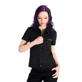 košile dámská Aderlass - Prick Blouse Denim Black, ADERLASS