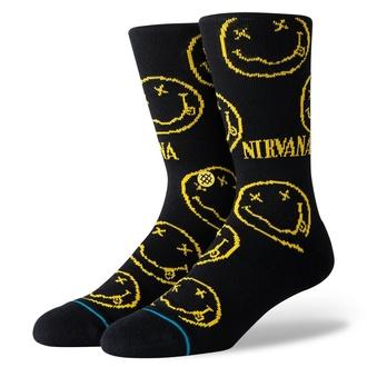 ponožky NIRVANA - FACE BLACK- STANCE, STANCE, Nirvana