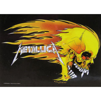 vlajka Metallica - Skull & Flames