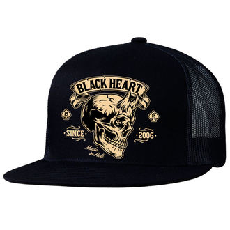 kšiltovka BLACK HEART - DEVIL SKULL - BLACK, BLACK HEART