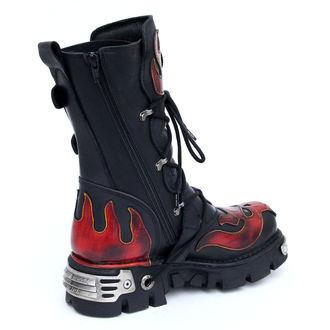 Boty New rock - Vampire Boots (107-S1) Black-Orange