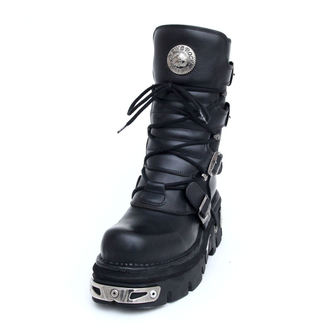 Boty New rock - Basic Boots (373-S4) Black