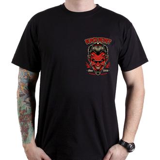 tričko pánské BLACK HEART - DEVIL SKULL - BLACK, BLACK HEART