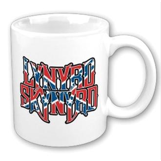 hrnek Lynyrd Skynyrd - Confederate logo WHT - ROCK OFF, ROCK OFF, Lynyrd Skynyrd