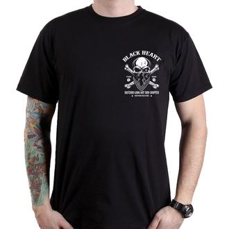 tričko pánské BLACK HEART - ROBBER - BLACK, BLACK HEART
