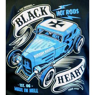 mikina pánská BLACK HEART - BRUISER - BLACK, BLACK HEART