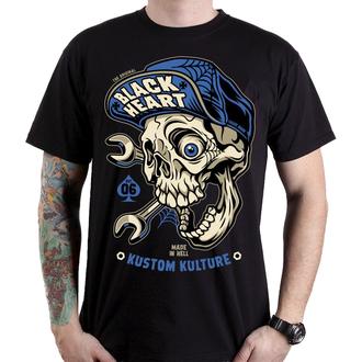 tričko pánské BLACK HEART - MECHANIC - BLACK, BLACK HEART
