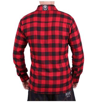 košile pánská BLACK HEART -  REDNECK - RED, BLACK HEART