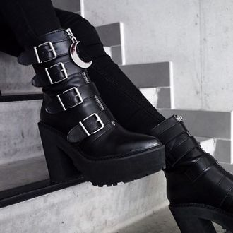 boty dámské KILLSTAR - Sorceress - BLACK