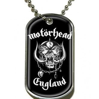 obojek 'psí známka' Motörhead 'England' - DT019, RAZAMATAZ, Motörhead