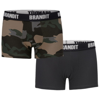 boxerky pánské (set 2 kusů) BRANDIT - 4501-dk.camo+black