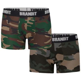 boxerky pánské (set 2 kusů) BRANDIT - 4501-woodland+dk.camo