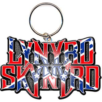 klíčenka - přívěšek Lynyrd Skynyrd (Flag Logo) - ROCK OFF, ROCK OFF, Lynyrd Skynyrd