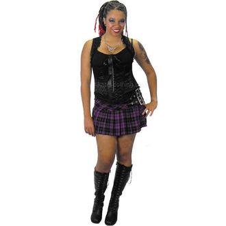 sukně dámská HELL BUNNY - Purple Chelsy Mini Skirt - 5051