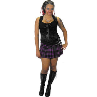 sukně dámská HELL BUNNY - Purple Chelsy Mini Skirt, HELL BUNNY
