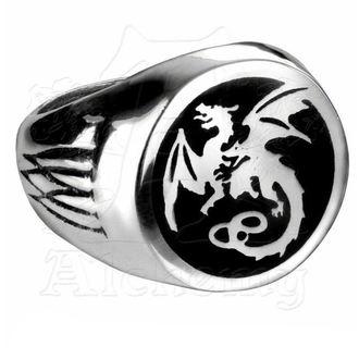 prsten Wyverex Dragon Signet Ringl ALCHEMY GOTHIC