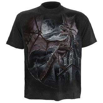 tričko pánské SPIRAL - Dragon Kingdom - Black - L006M101