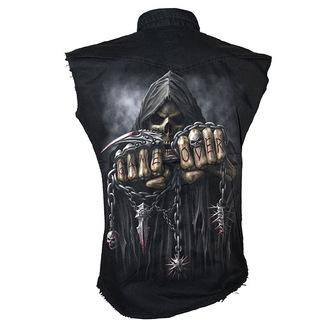 košile pánská bez rukávů SPIRAL - Game Over - Black - T026M602