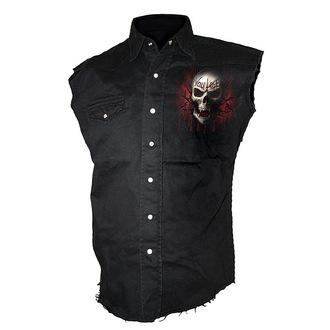 košile pánská bez rukávů SPIRAL - Game Over - Black, SPIRAL