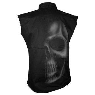 košile pánská bez rukávů SPIRAL - Shadow Skull - Grey - T016M602