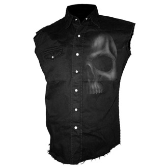 košile pánská bez rukávů SPIRAL - Shadow Skull - Grey, SPIRAL