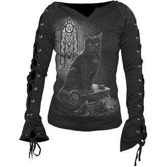 tričko dámské s dlouhým rukávem SPIRAL  - Witch Cat - D016F412