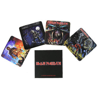 pivní tácky Iron Maiden - Iron Maiden coaster set - ROCK OFF, ROCK OFF, Iron Maiden