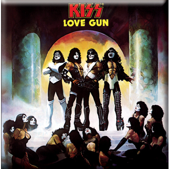 magnet Kiss - Love Gun Album Cover fridge Magnet - ROCK OFF - KISSMAG02
