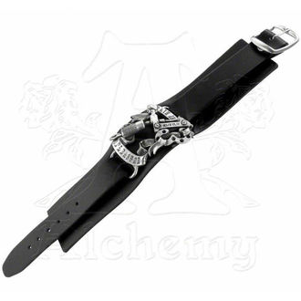 náramek Pain is Pleasure Leather Strap - ALCHEMY GOTHIC, ALCHEMY GOTHIC