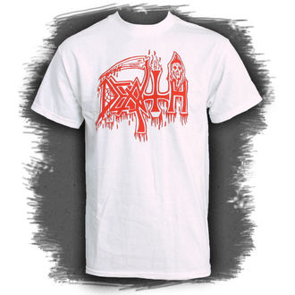 tričko pánské DEATH-CLASSIC LOGO WHITE - RELAPSE, RELAPSE, Death