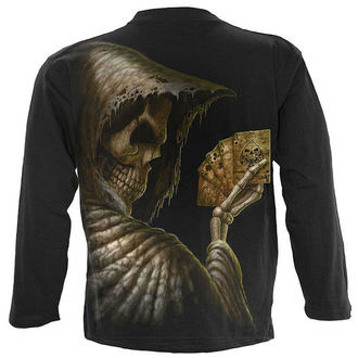 tričko pánské s dlouhým rukávem SPIRAL - Dead Mans Hand - Black