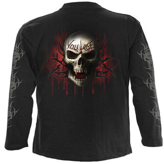 tričko pánské s dlouhým rukávem SPIRAL - Game Over - Black - T026M301