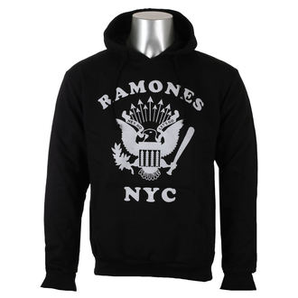 mikina pánská Ramones - Retro Eagle NYC - Black - ROCK OFF, ROCK OFF, Ramones