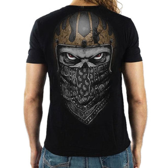 tričko pánské LETHAL THREAT - PREMIUM SKULL BANDANA - BLACK - VV40141