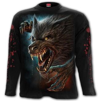tričko pánské s dlouhým rukávem SPIRAL - WILD MOON - Black, SPIRAL
