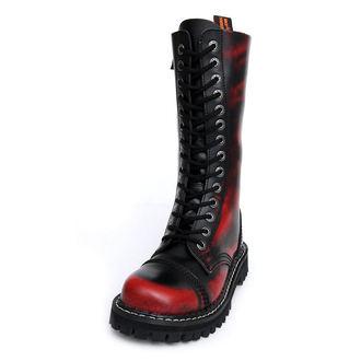 boty KMM 14dírkové - Red/Black, KMM
