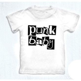 tričko dětské ROCK DADDY - Punk Baby - White - 16007-006 - MBM
